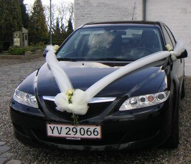 Tyl på bil bryllup