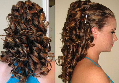 Very thick long hair wedding hairstyle