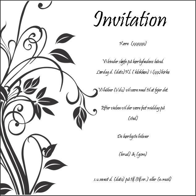 Gratis invitations skabeloner pictures