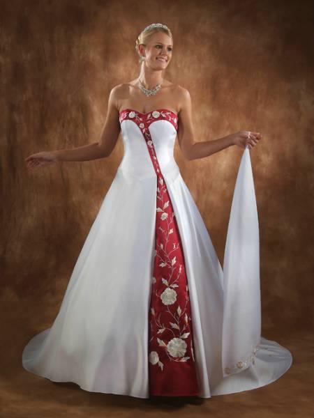 brudekjole rød
